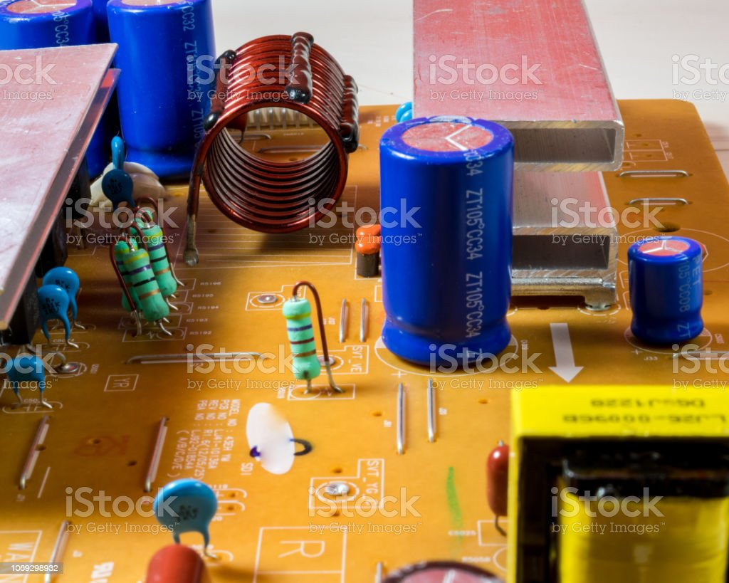 Television Electronic Circuit Board Stock Photo