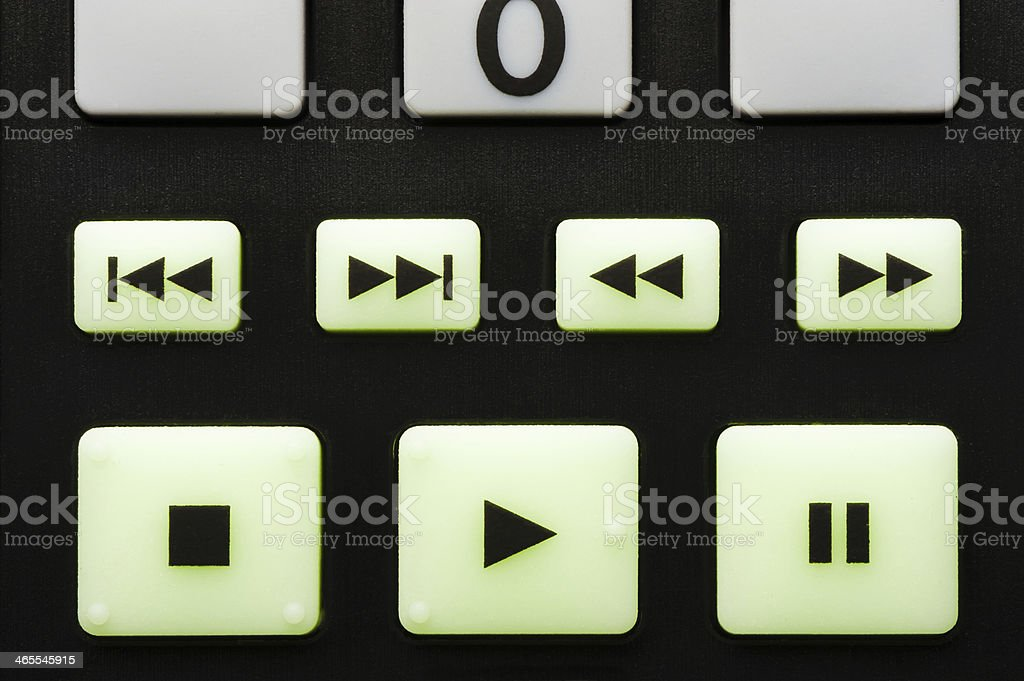Television Electronics Remote Control Close Up stock photo