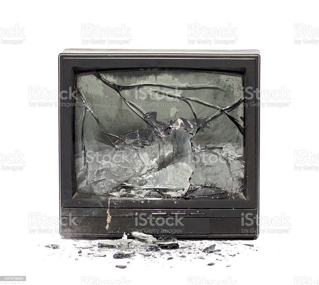 Television exploding royalty-free stock photo