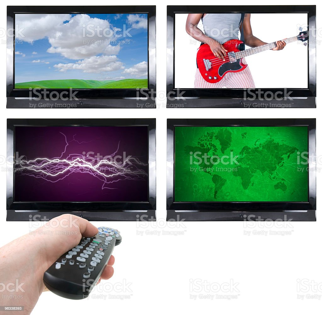 Television Junkie royalty-free stock photo