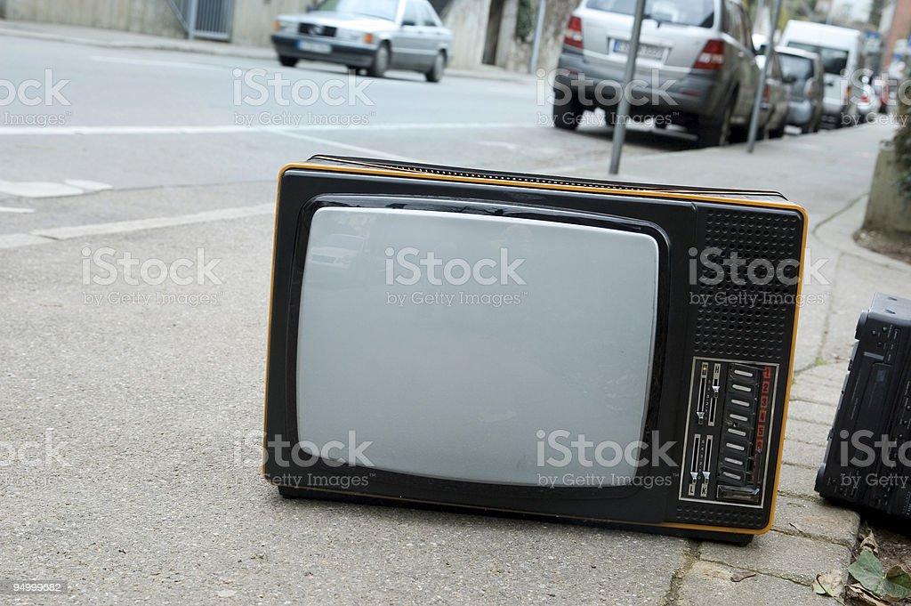 Fernsehen auf der Straße – Foto