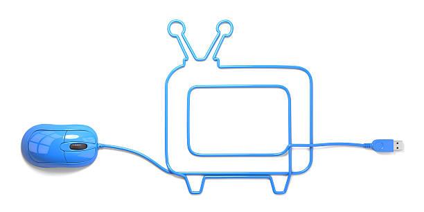 - fernseher - maus video stock-fotos und bilder