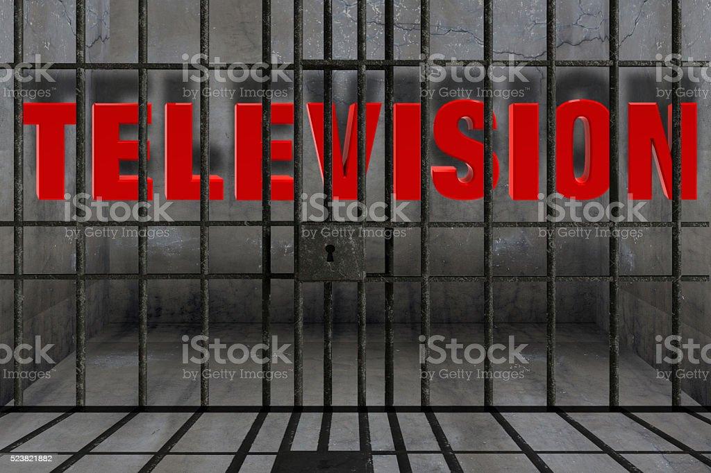 Television stock photo
