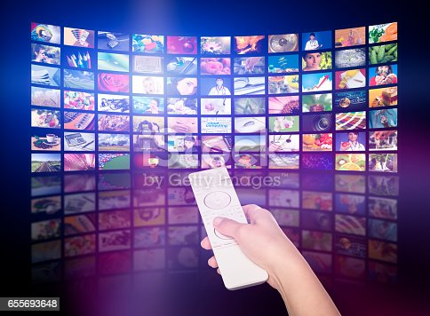 istock Television production concept. TV movie panels 655693648
