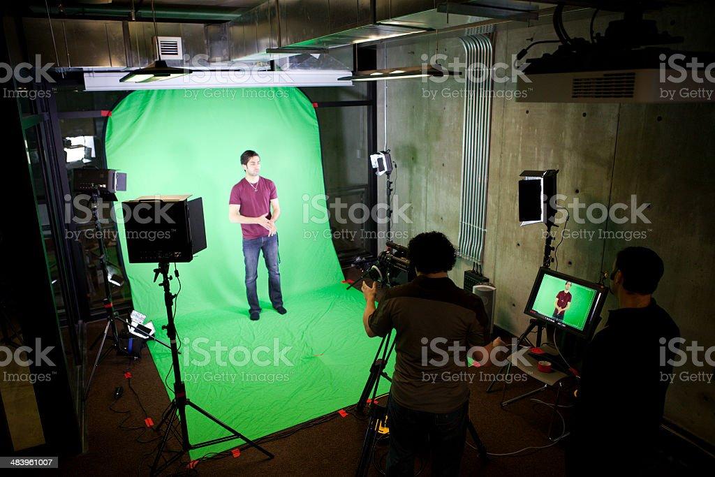 Television Production stock photo