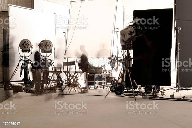 Television Production With Long Exposure Stock Photo - Download Image Now