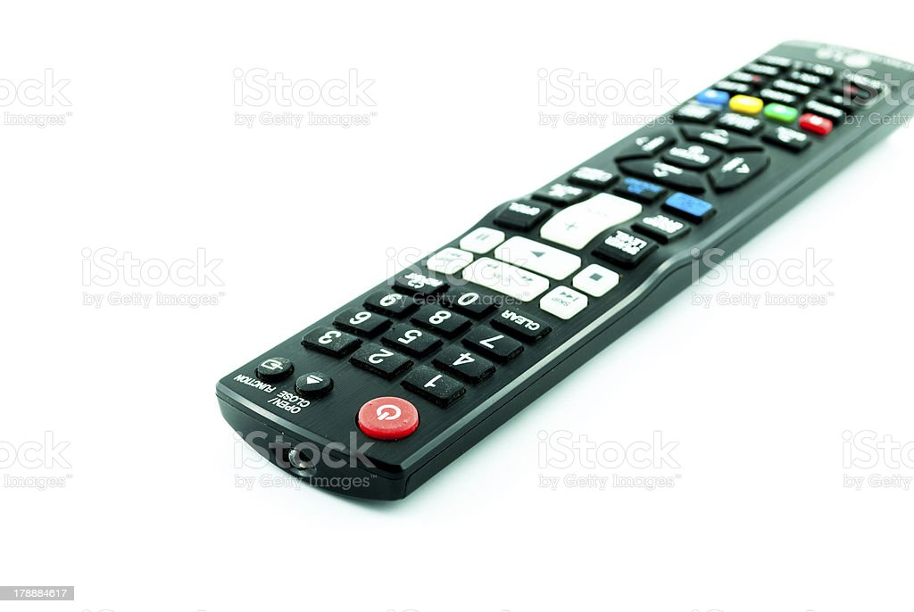 Television remote control royalty-free stock photo