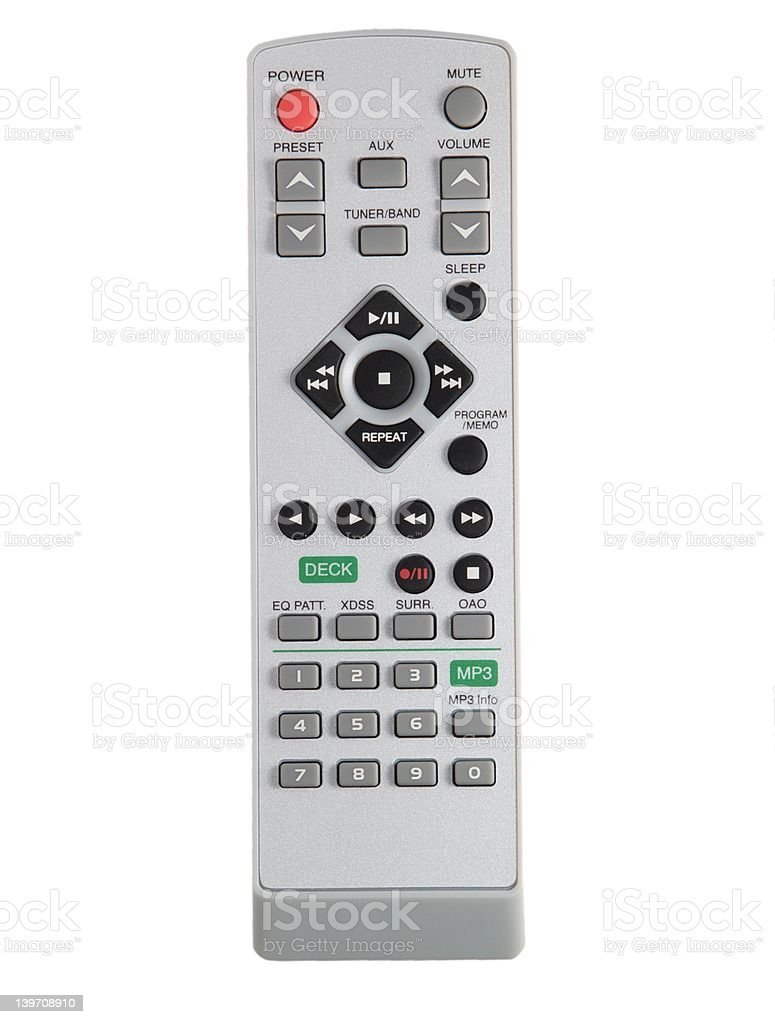 Television remote royalty-free stock photo