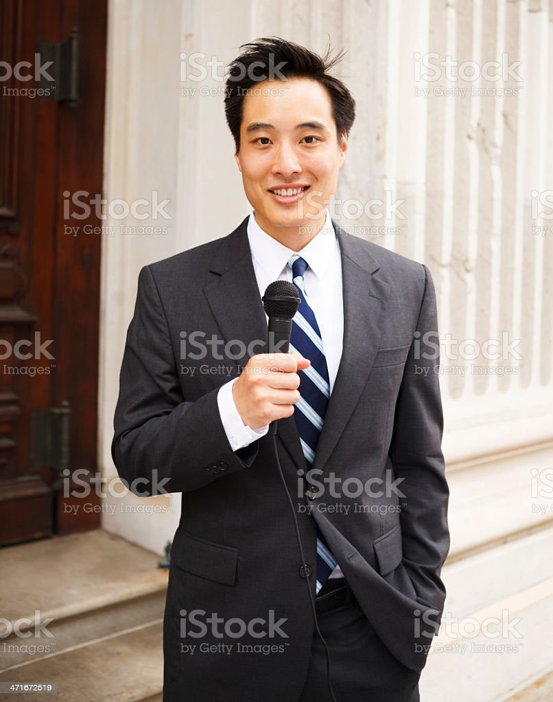 Television Reporter royalty-free stock photo