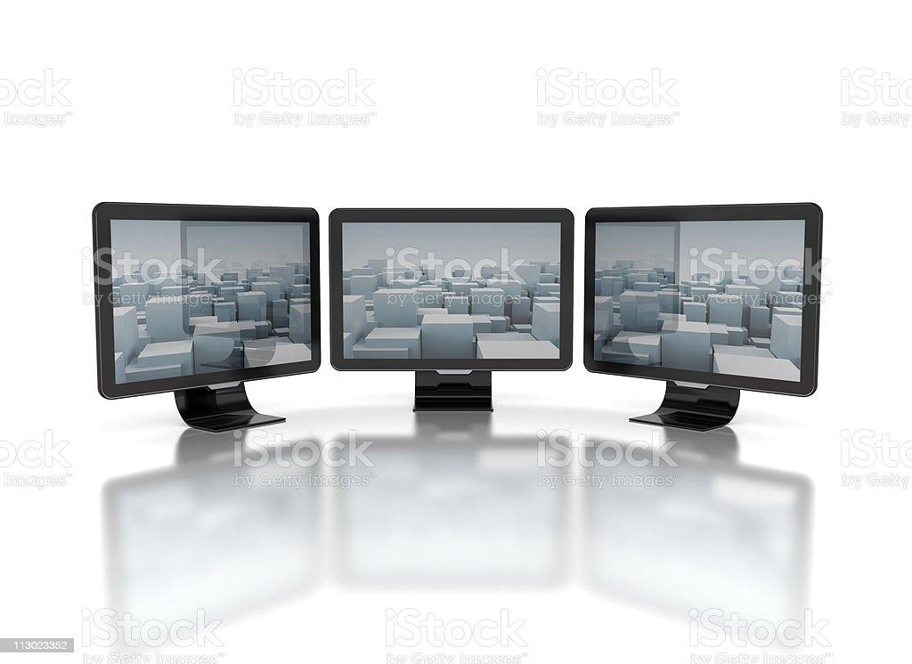 television screens stock photo