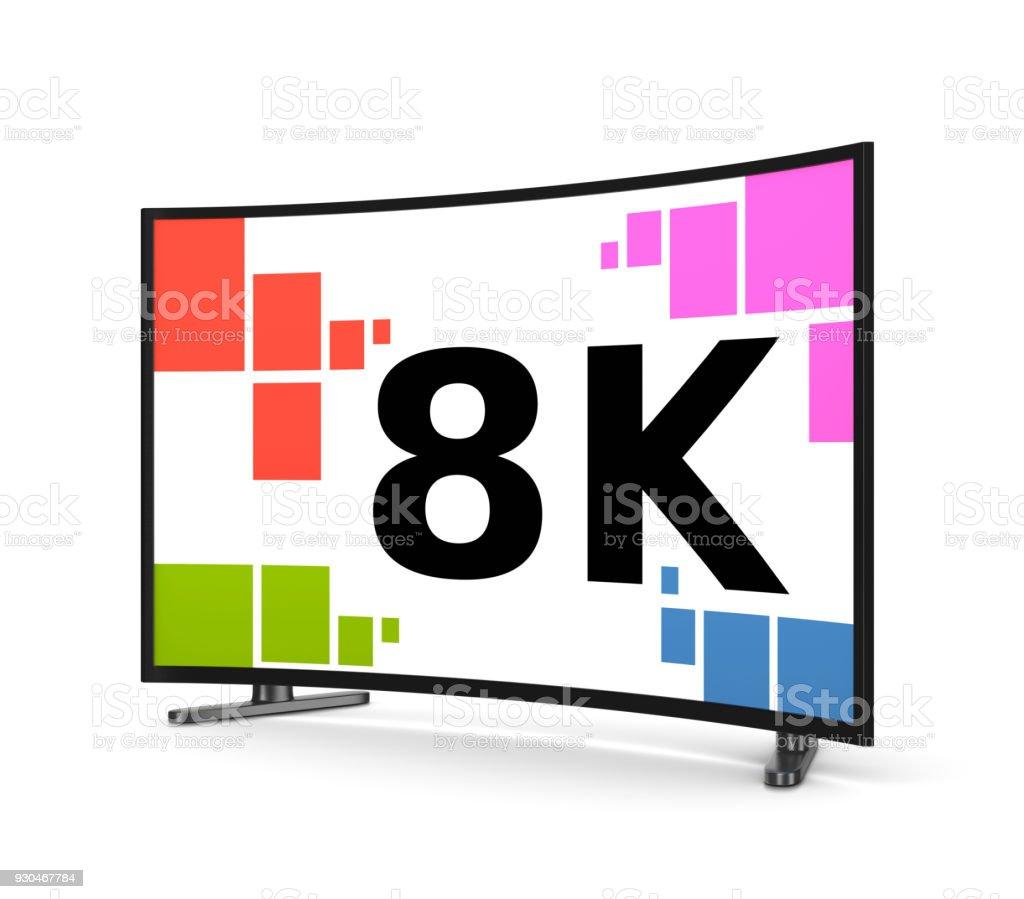 8K Fernseher gebogene Bildschirm – Foto