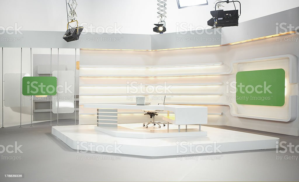 Television set stock photo