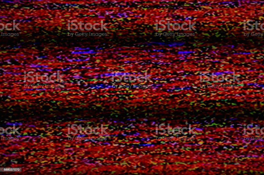 Television Static Noise stock photo