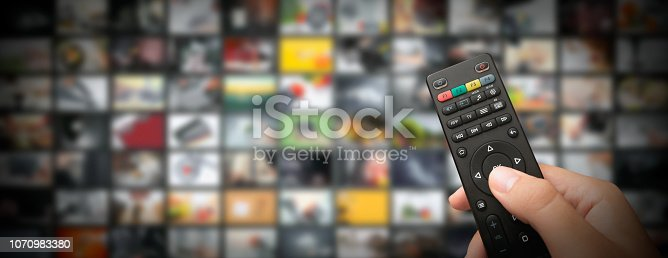 istock Television streaming video. Media TV on demand 1070983380