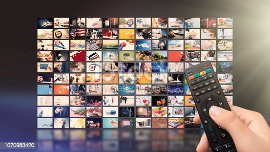 istock Television streaming video. Media TV on demand 1070983420