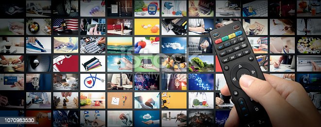 istock Television streaming video. Media TV on demand 1070983530