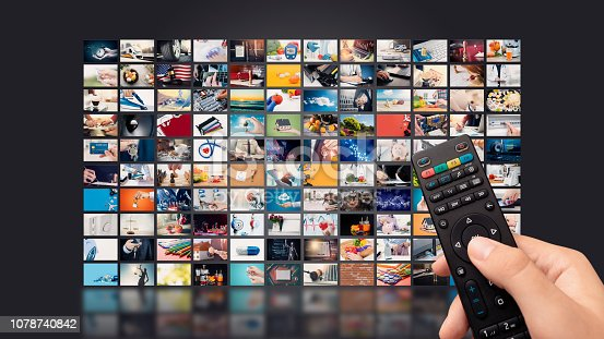 istock Television streaming video. Media TV on demand 1078740842