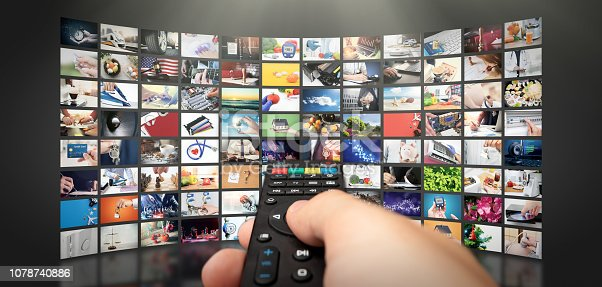 istock Television streaming video. Media TV on demand 1078740886