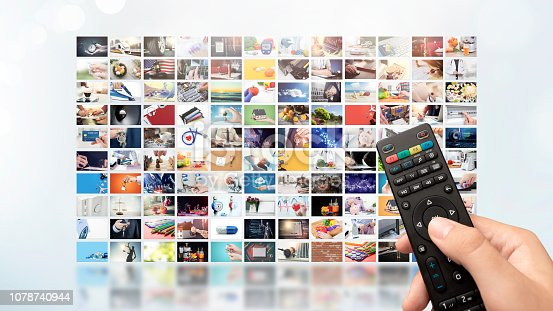 istock Television streaming video. Media TV on demand 1078740944