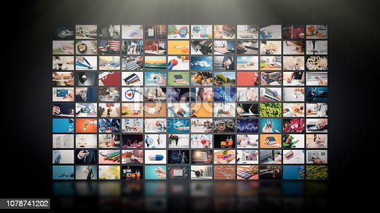 istock Television streaming video. Media TV on demand 1078741202