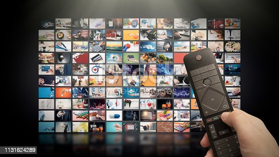 istock Television streaming video. Media TV on demand 1131624289