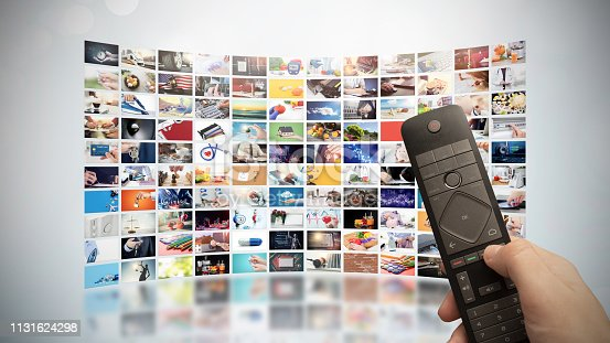 istock Television streaming video. Media TV on demand 1131624298