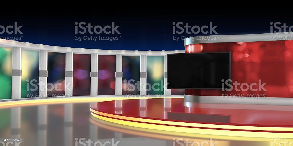 Television studio stock photo