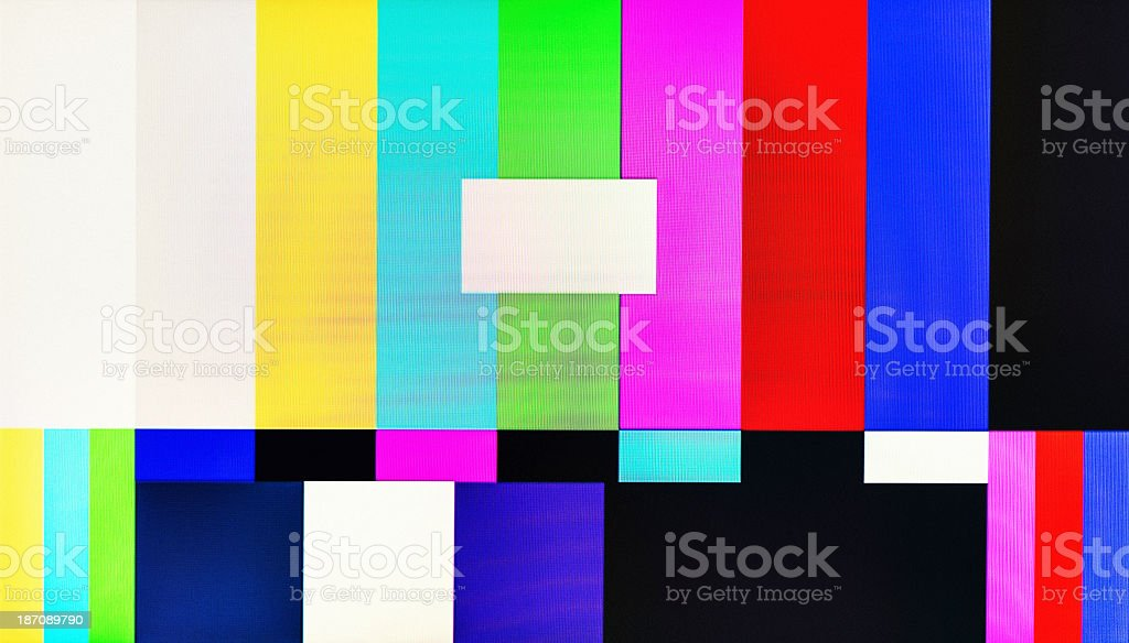 Television Test Pattern stock photo