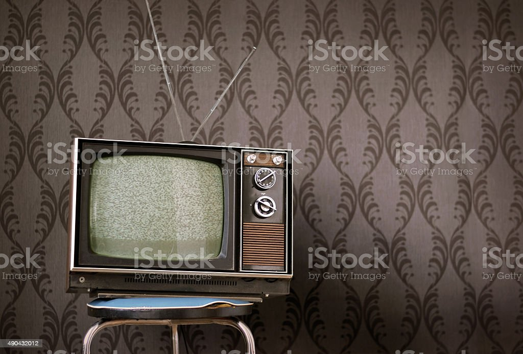 Television Vintage stock photo