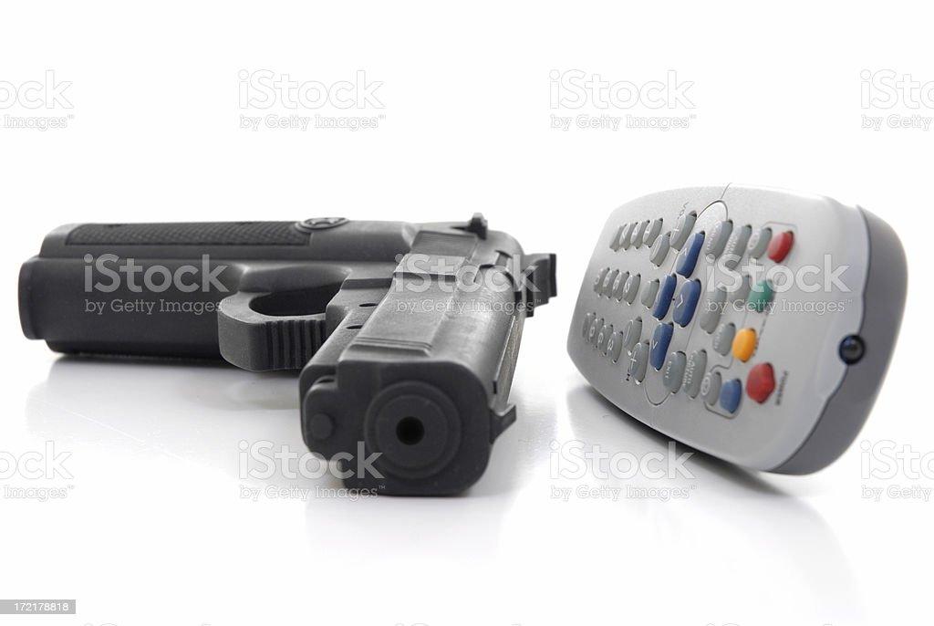 Television violence royalty-free stock photo