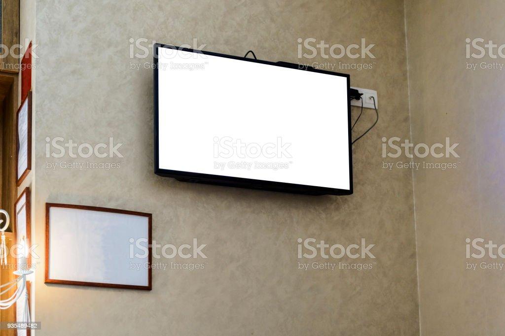 flachbildfernseher wand hangen rahmen, fernseher an der wand mit einem leeren rahmen stock-fotografie und, Design ideen