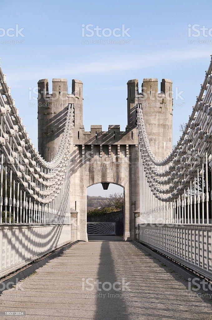 Telford Suspension Bridge stock photo
