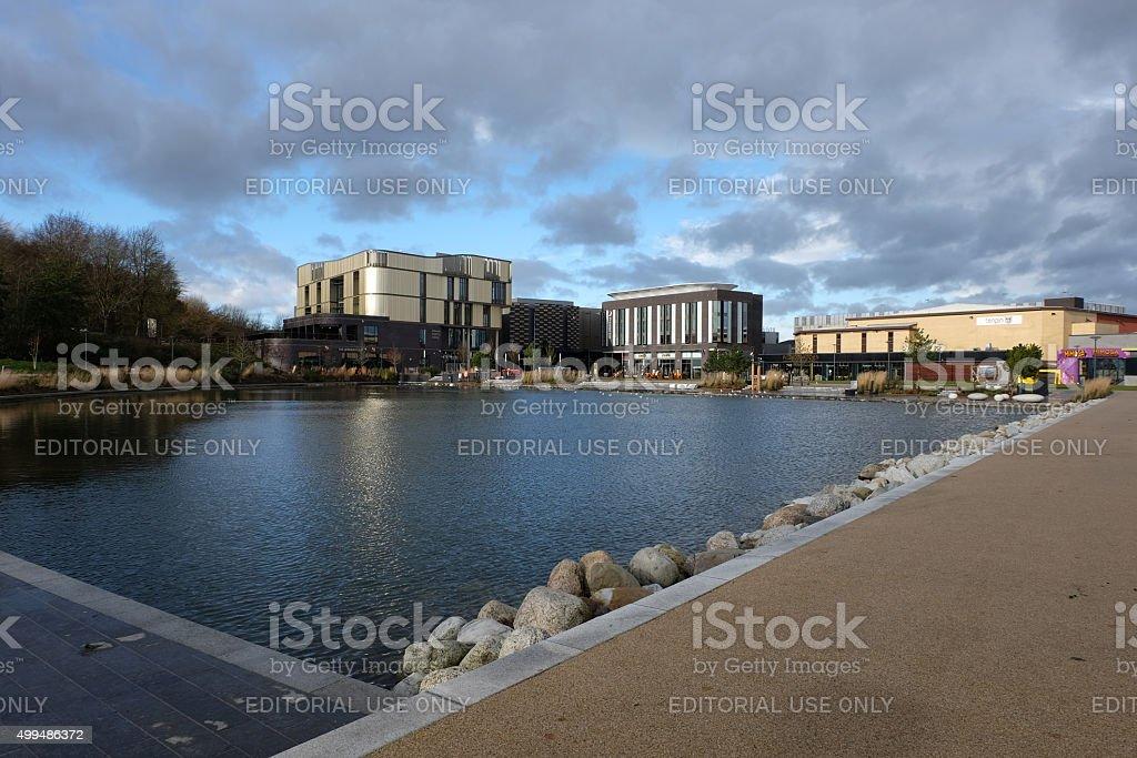 Telford town centre stock photo