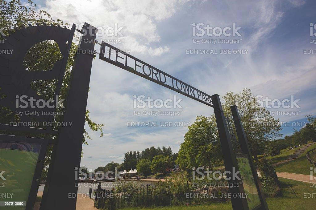 Telford Town Park stock photo