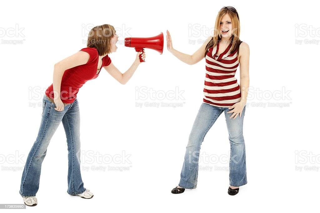 Tell It to The Hand! royalty-free stock photo