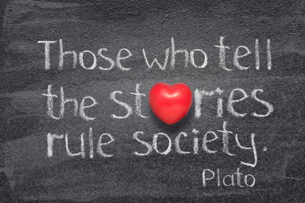 sagen geschichten herz - storytelling stock-fotos und bilder