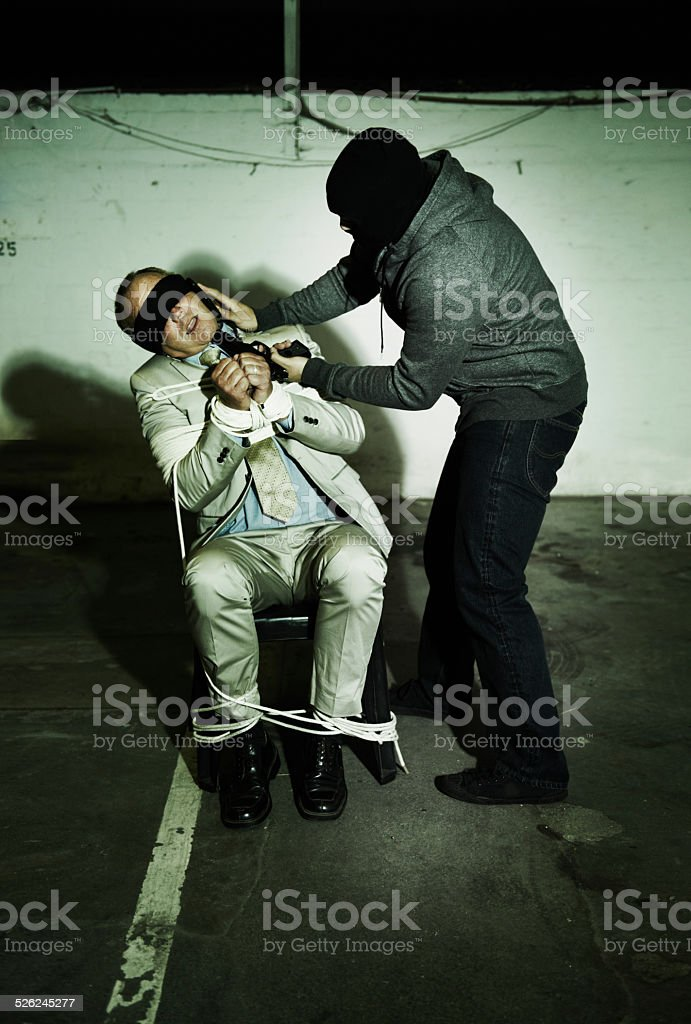 Tell them where to drop the money! stock photo