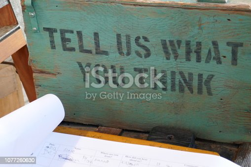 Tell us what you think - guest logbook
