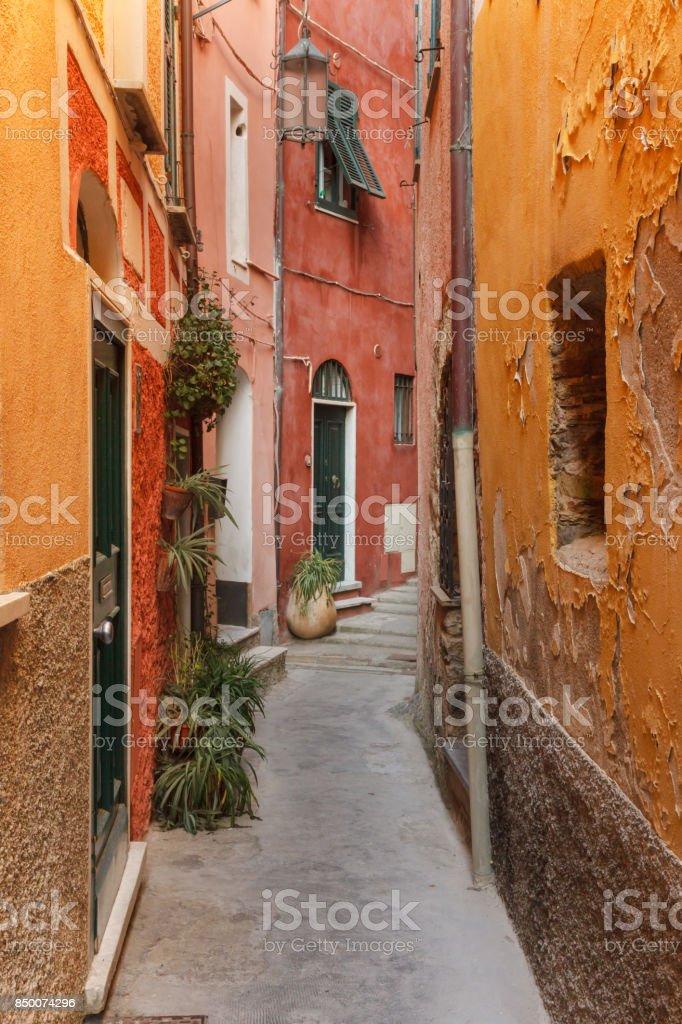 Tellaro, old small village in Italy stock photo