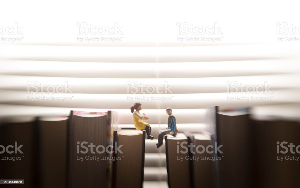 telling big stories stock photo