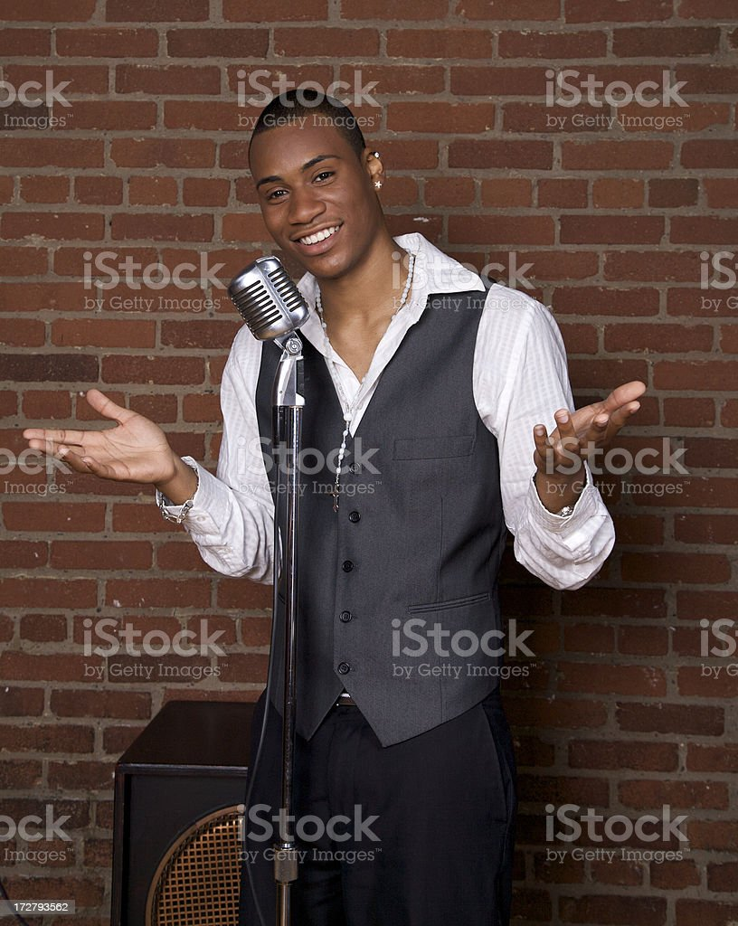 Telling Joke stock photo