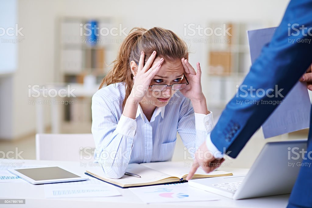 Telling off stock photo