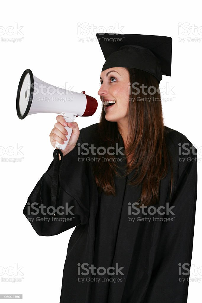 Telling the benefits of an education royalty-free stock photo