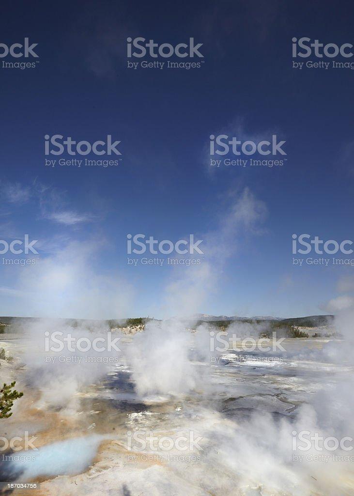 Tellowstone : Norris Geyser Basin stock photo