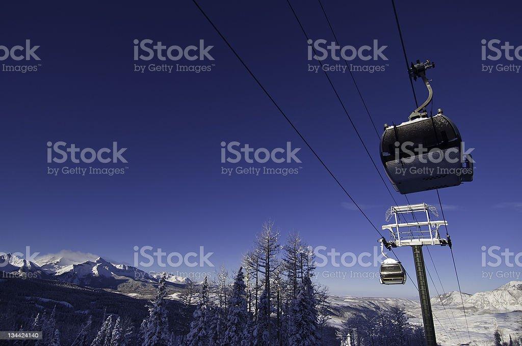 Telluride Colorado Ski Resort Gondola royalty-free stock photo