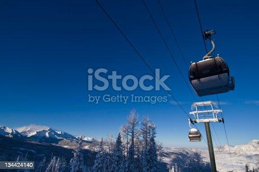 Telluride Colorado Ski Resort Gondola.  ProPhoto RGB.
