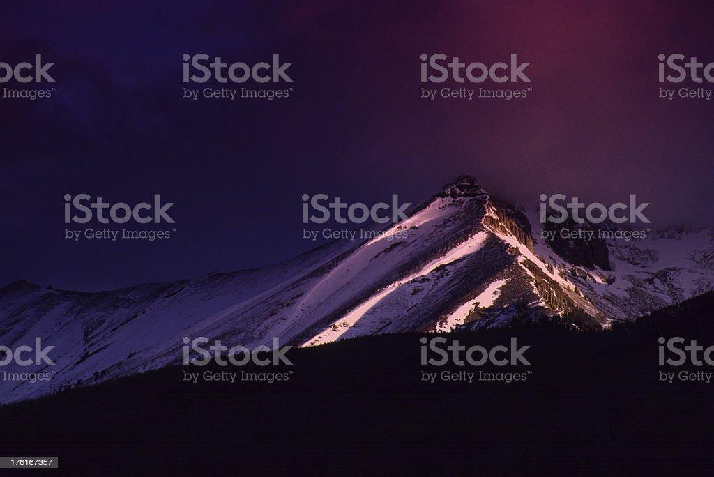Telluride Colorado's Wilson Peak Glows with first Morning Light Sunrise royalty-free stock photo