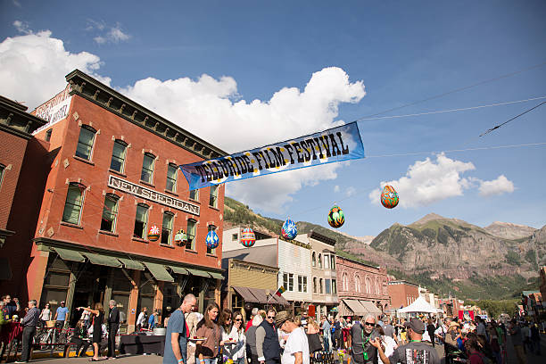 Telluride Film Festival Opening Night Feed - Telluride, CO stock photo