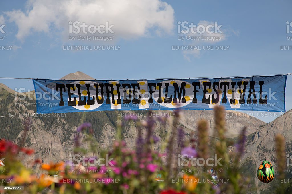 Telluride Film Festival Sign stock photo