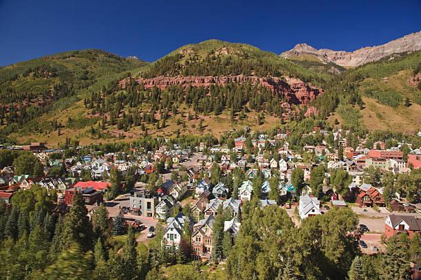 Telluride village stock photo